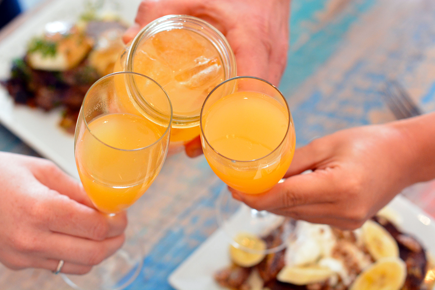 Rum Punch and Mimosa are both available during our RHUM Punch Brunch! Call for details.