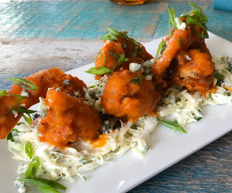 Buffalo Shrimp Appetizer on the dine-in menu. Call to learn about all of our appetizers.