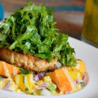 Sunset Crab Cake Salad.