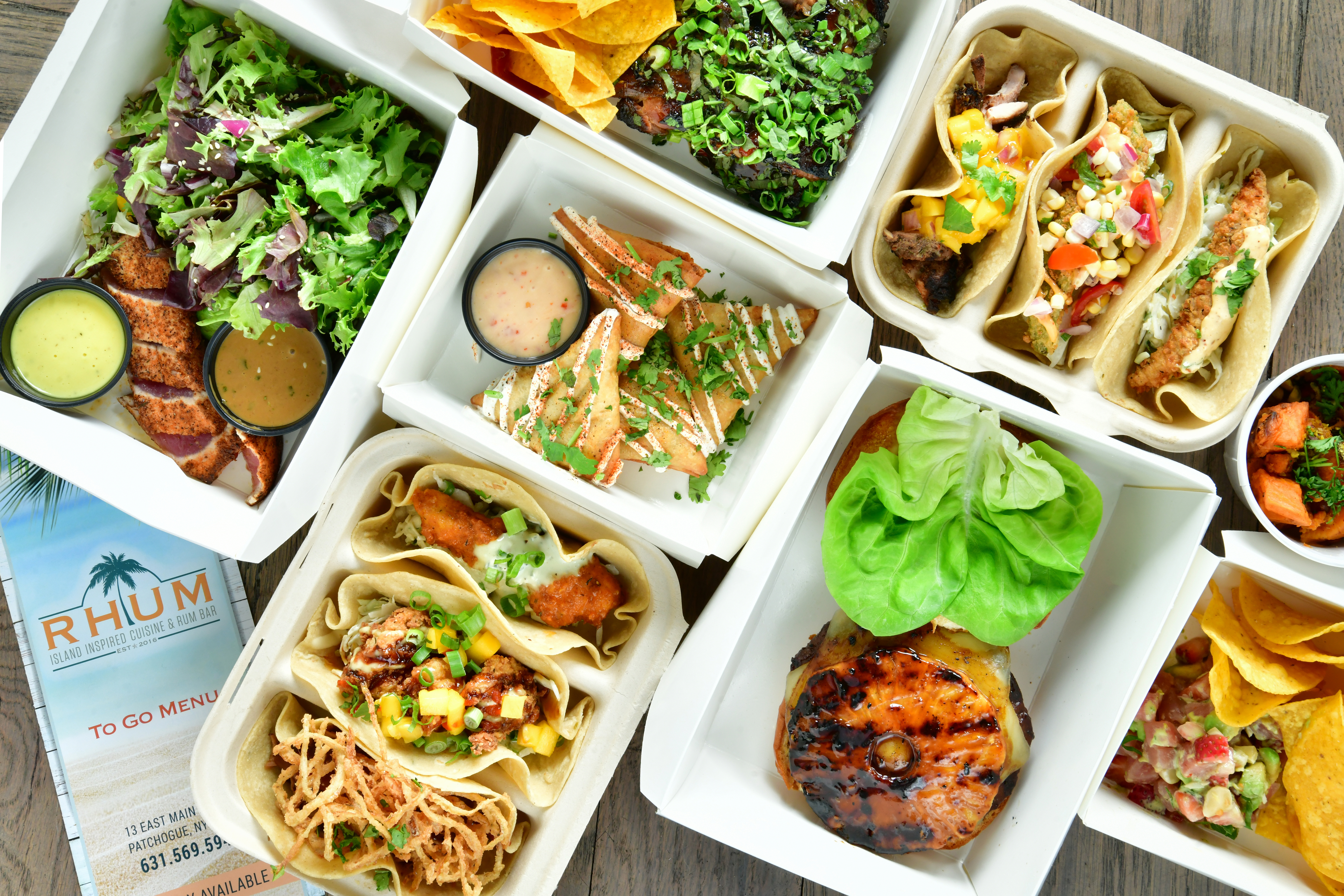 Enjoy takeout from RHUM - available daily.