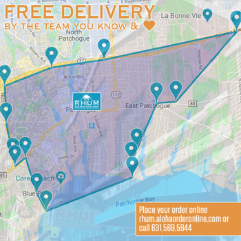 RHUM currently offers free local delivery