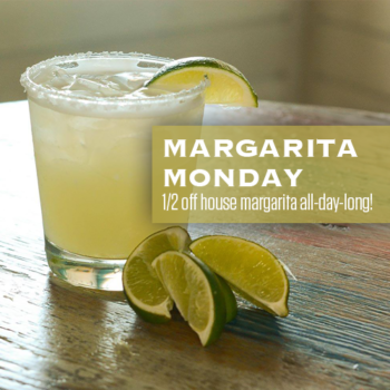 Margarita Monday is now at RHUM. 1/2 off house margarita all-day-long.